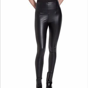 LYSSE Black Vegan Leather High Rise Leggings Pants